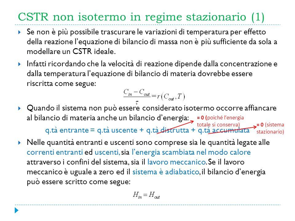 CSTR non isotermo in regime stazionario (1)