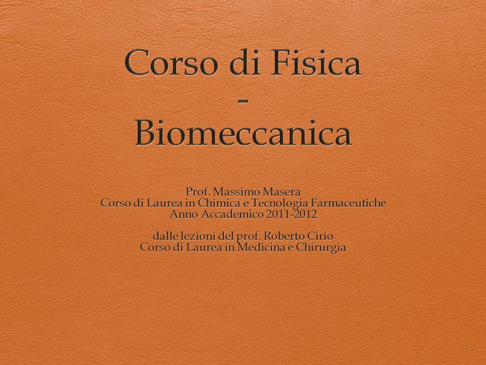 Corso di Fisica - Biomeccanica