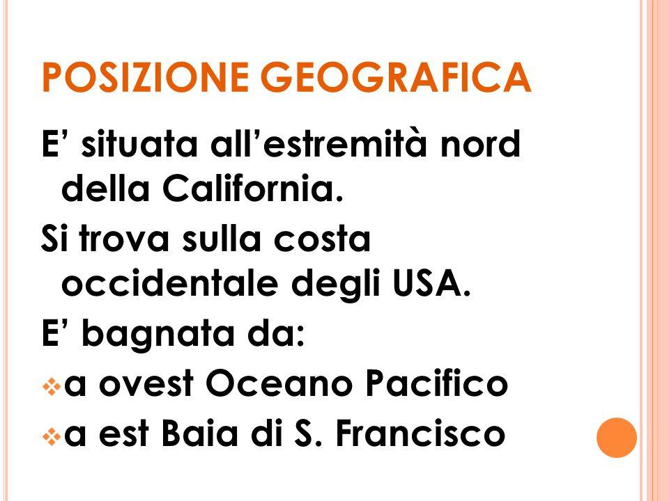 POSIZIONE GEOGRAFICA E' situata all'estremità nord della California.