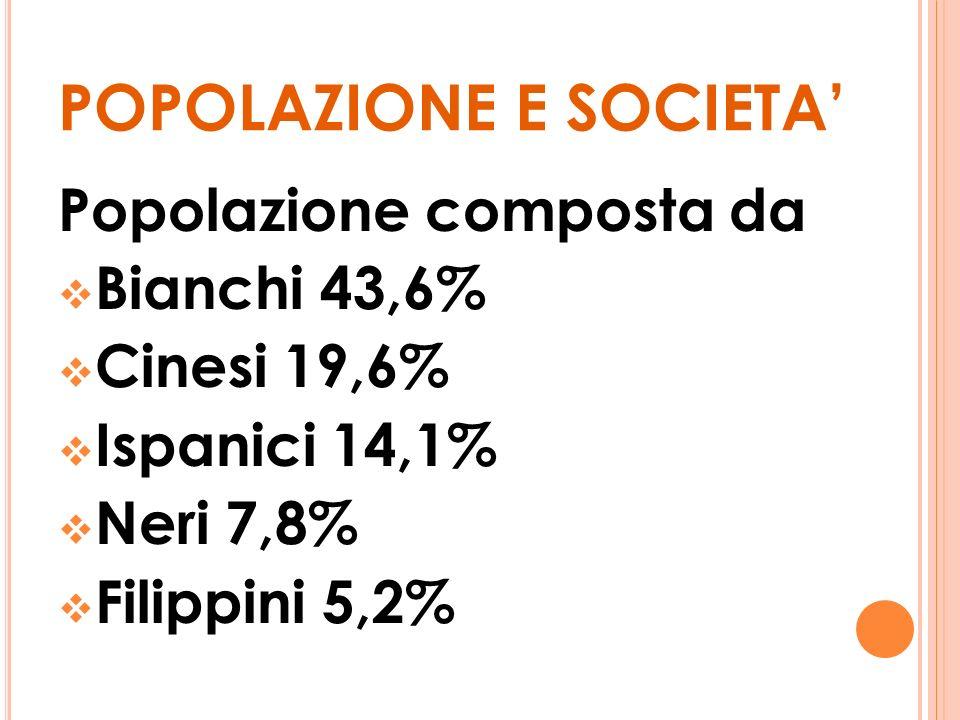 POPOLAZIONE E SOCIETA'