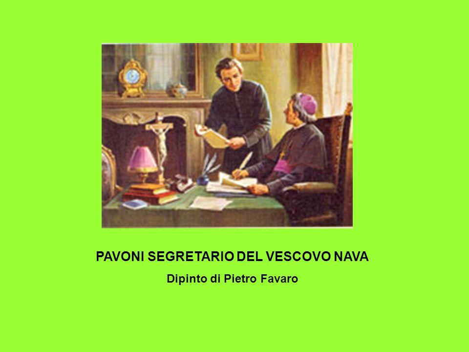 PAVONI SEGRETARIO DEL VESCOVO NAVA Dipinto di Pietro Favaro