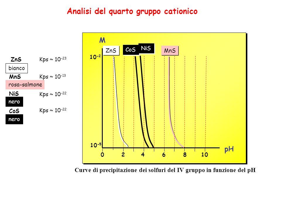 Analisi del quarto gruppo cationico