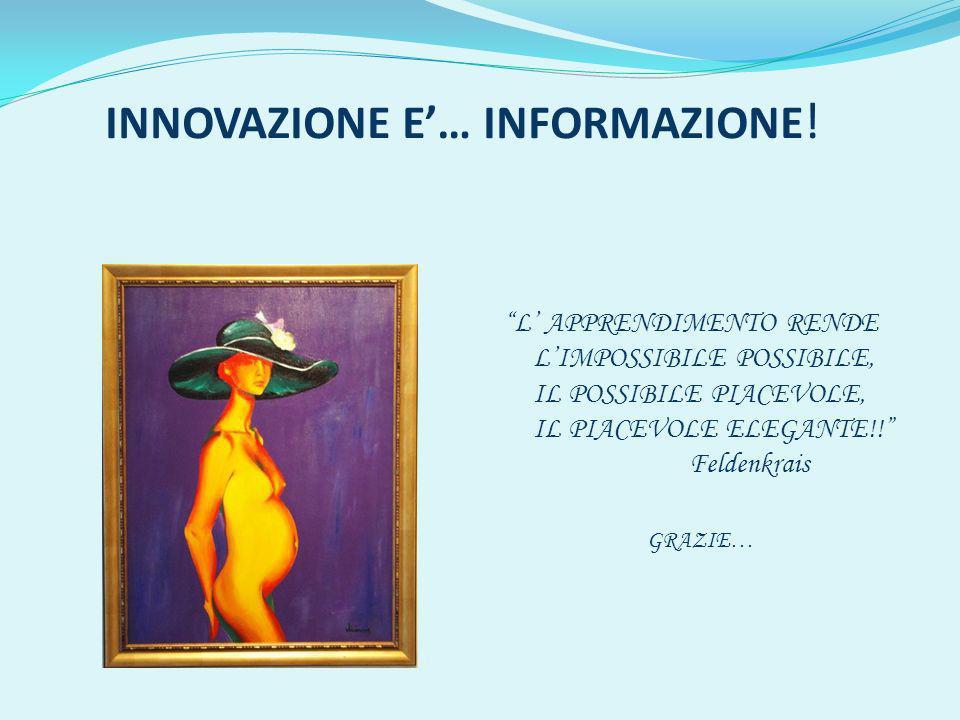INNOVAZIONE E'… INFORMAZIONE!