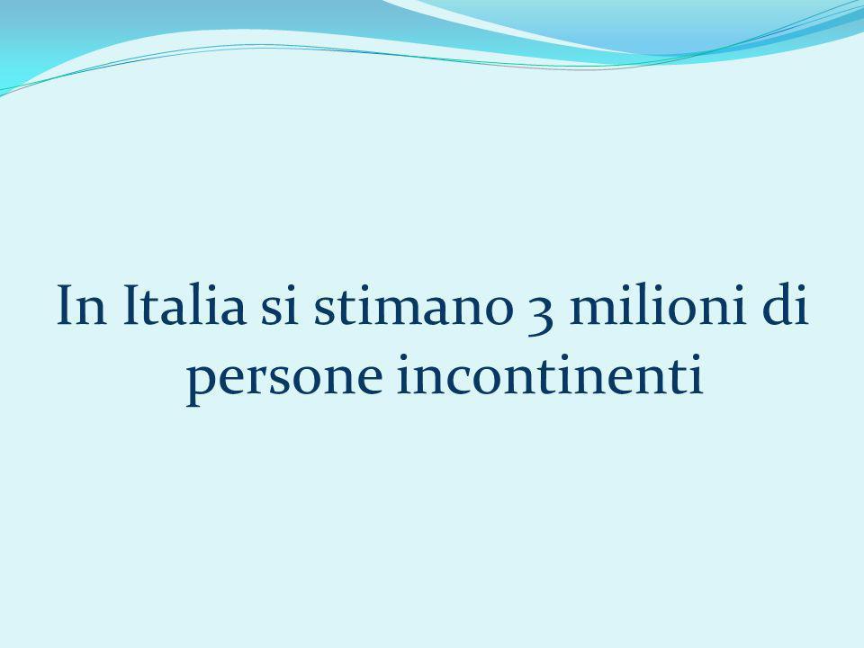 In Italia si stimano 3 milioni di persone incontinenti