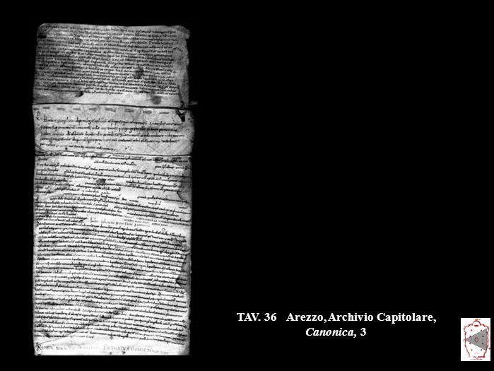 TAV. 36 Arezzo, Archivio Capitolare, Canonica, 3