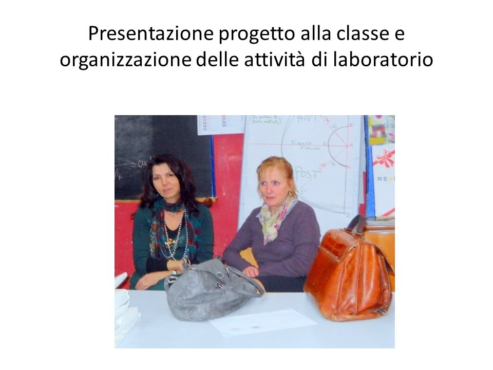 Presentazione progetto alla classe e organizzazione delle attività di laboratorio