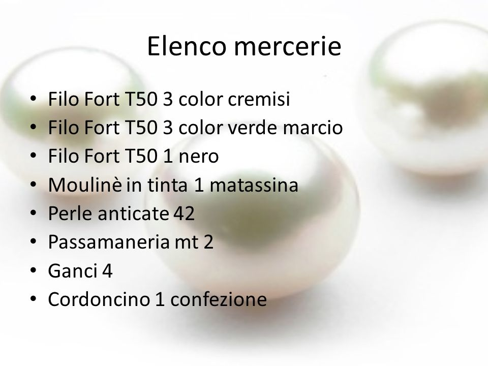 Elenco mercerie Filo Fort T50 3 color cremisi