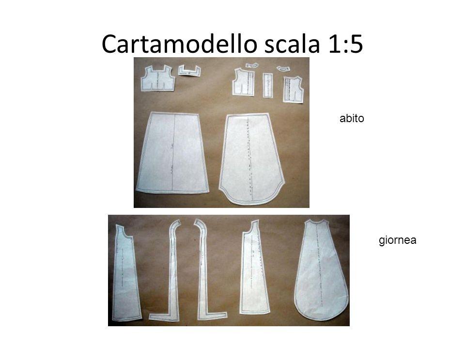 Cartamodello scala 1:5 abito giornea
