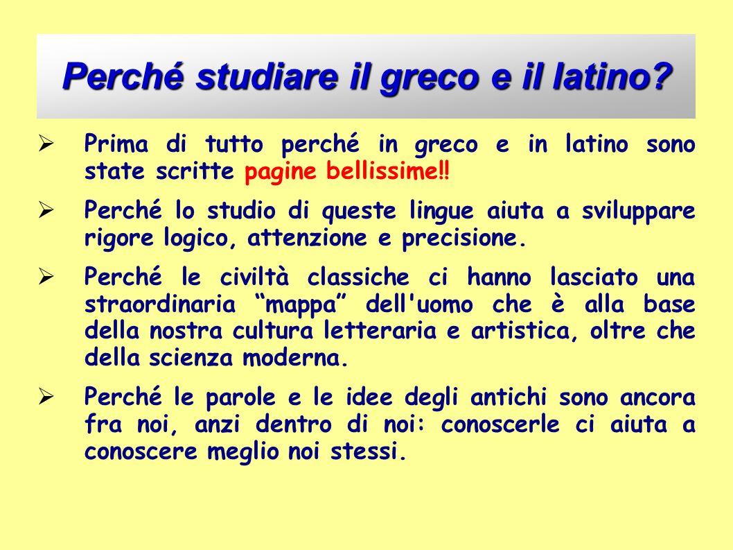 Perché studiare il greco e il latino