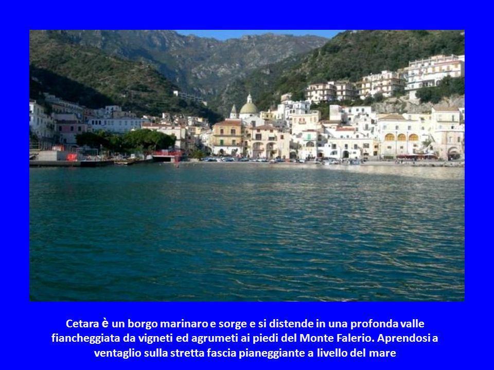 Cetara è un borgo marinaro e sorge e si distende in una profonda valle fiancheggiata da vigneti ed agrumeti ai piedi del Monte Falerio.