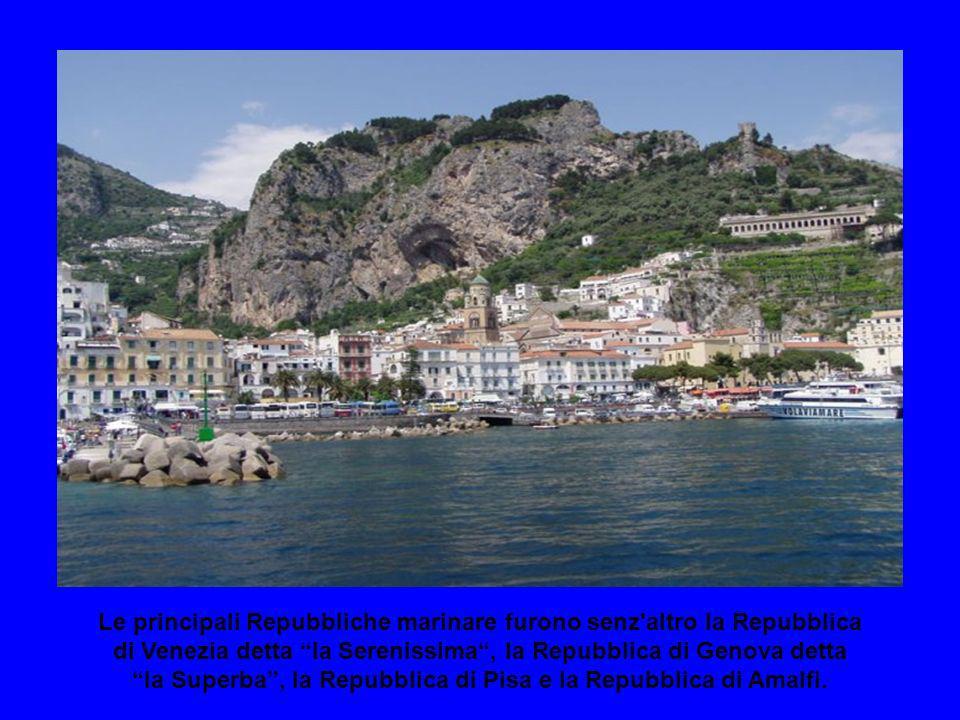 Le principali Repubbliche marinare furono senz altro la Repubblica di Venezia detta la Serenissima , la Repubblica di Genova detta la Superba , la Repubblica di Pisa e la Repubblica di Amalfi.