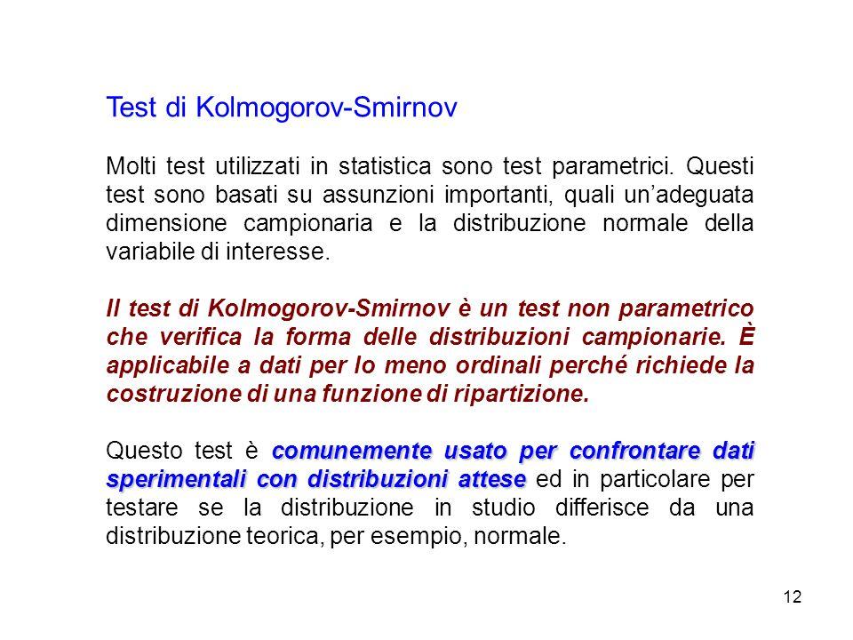Test di Kolmogorov-Smirnov