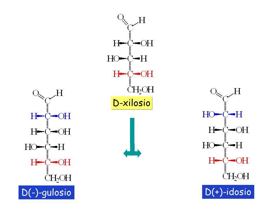 D-xilosio D(-)-gulosio D(+)-idosio