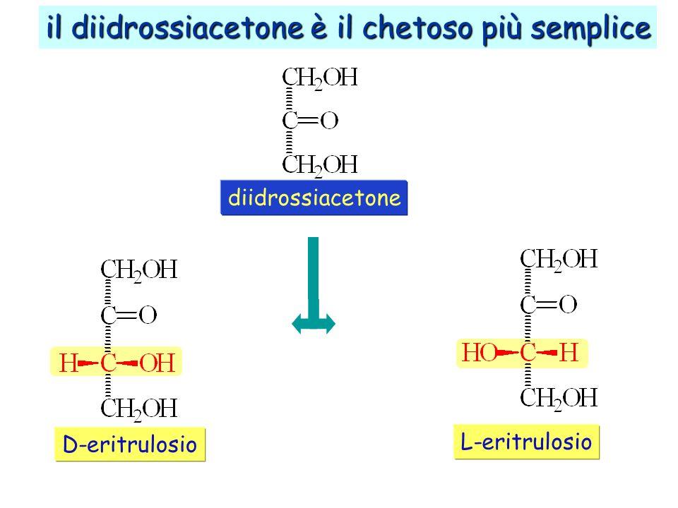 il diidrossiacetone è il chetoso più semplice