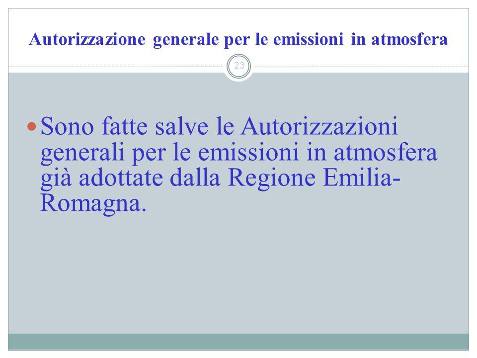 Autorizzazione generale per le emissioni in atmosfera