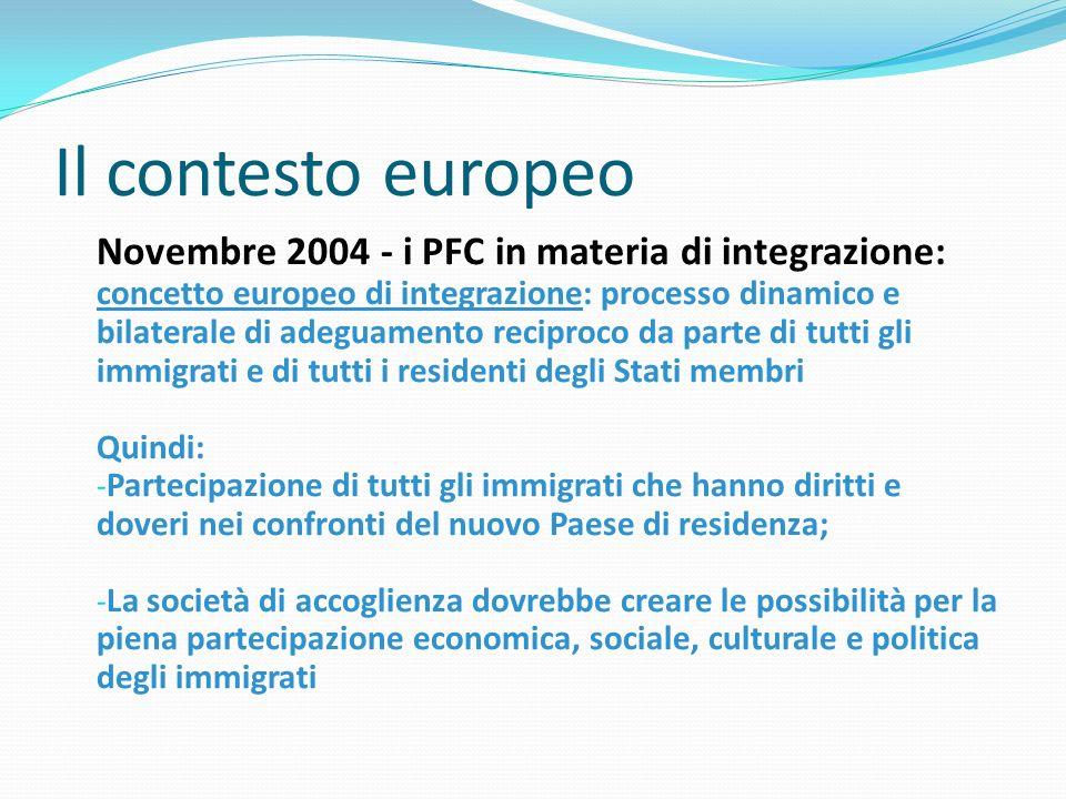 < Il contesto europeo