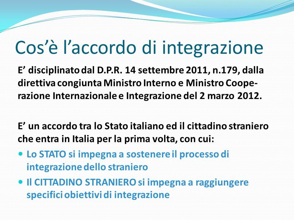 Cos'è l'accordo di integrazione