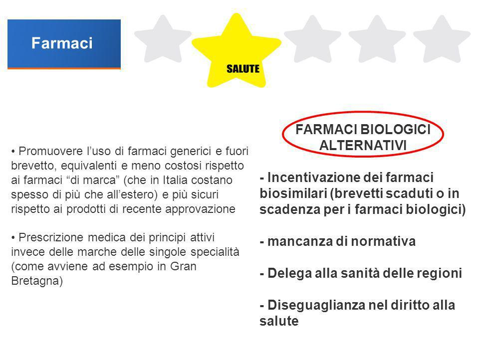 FARMACI BIOLOGICI ALTERNATIVI
