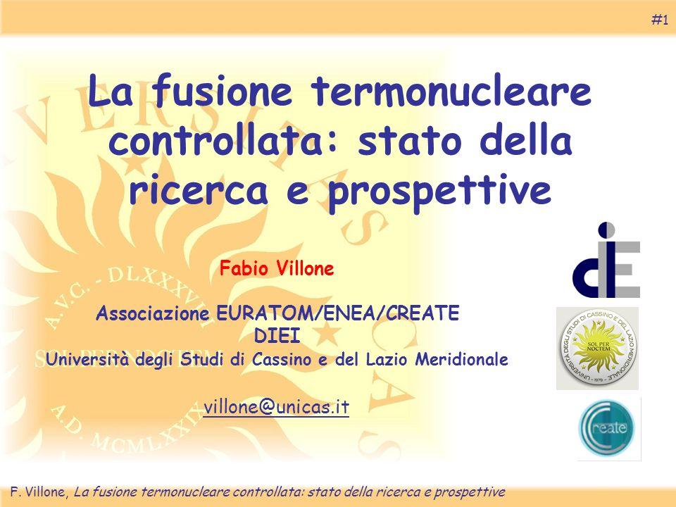 La fusione termonucleare controllata: stato della ricerca e prospettive