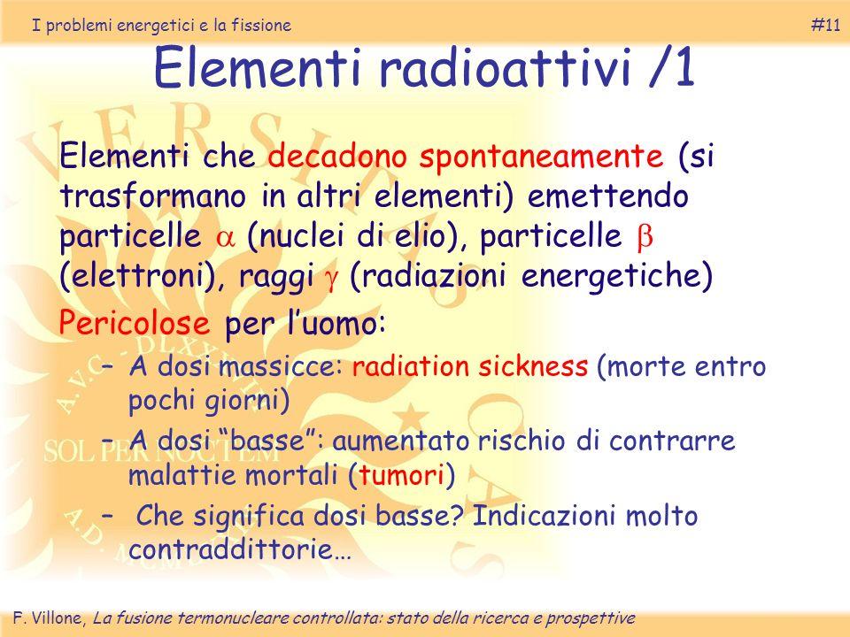 Elementi radioattivi /1