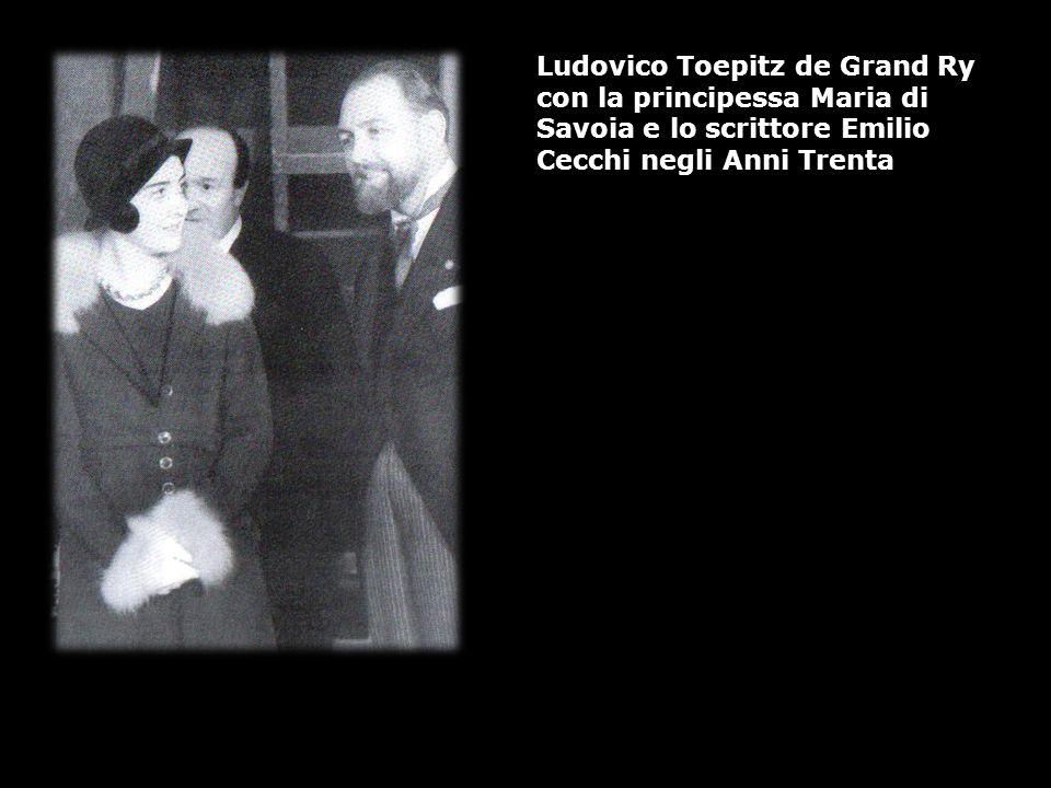Ludovico Toepitz de Grand Ry con la principessa Maria di Savoia e lo scrittore Emilio Cecchi negli Anni Trenta