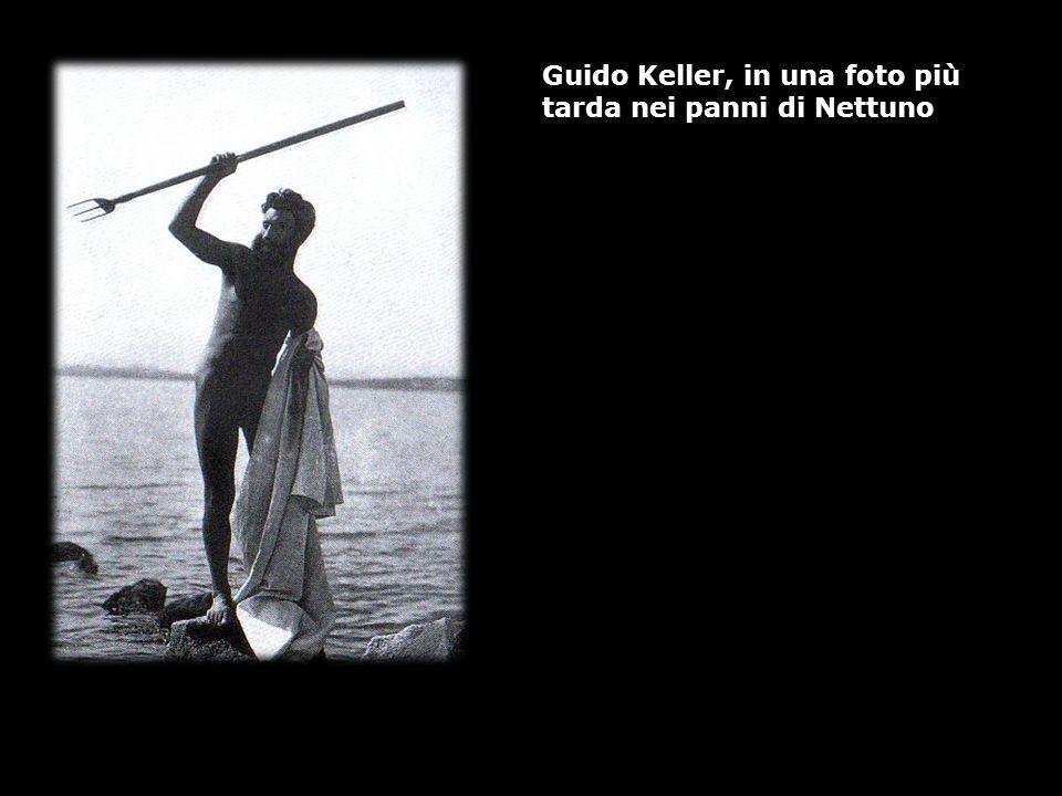 Guido Keller, in una foto più tarda nei panni di Nettuno