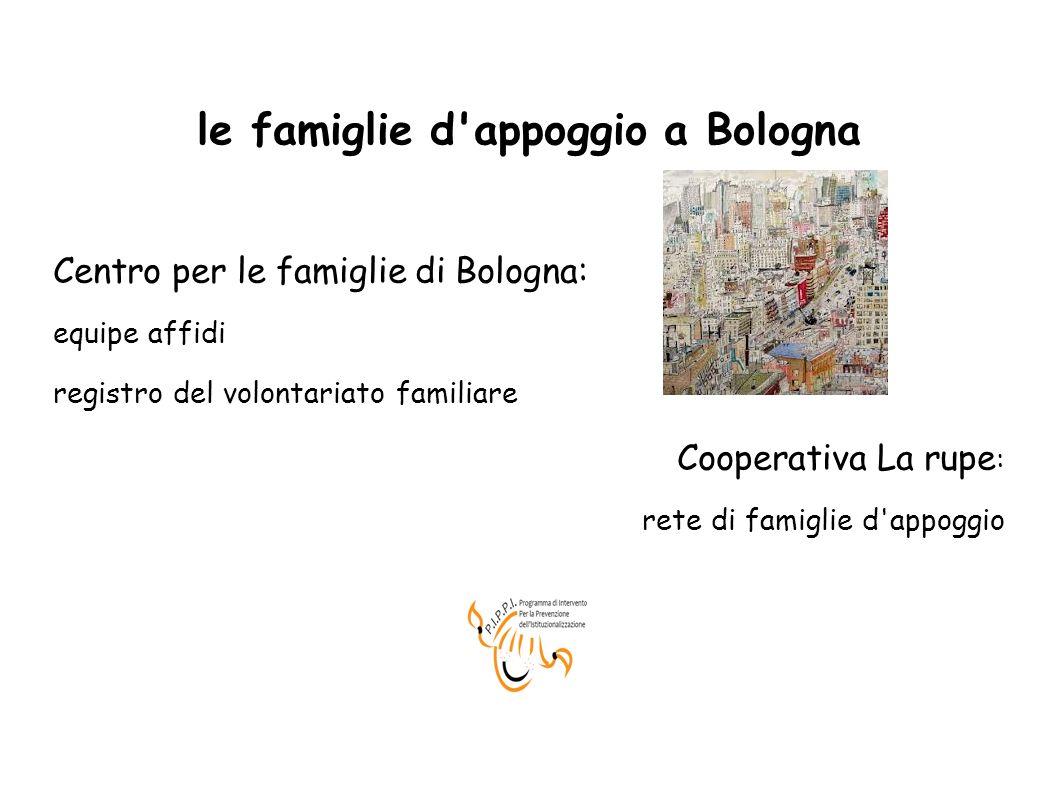 le famiglie d appoggio a Bologna