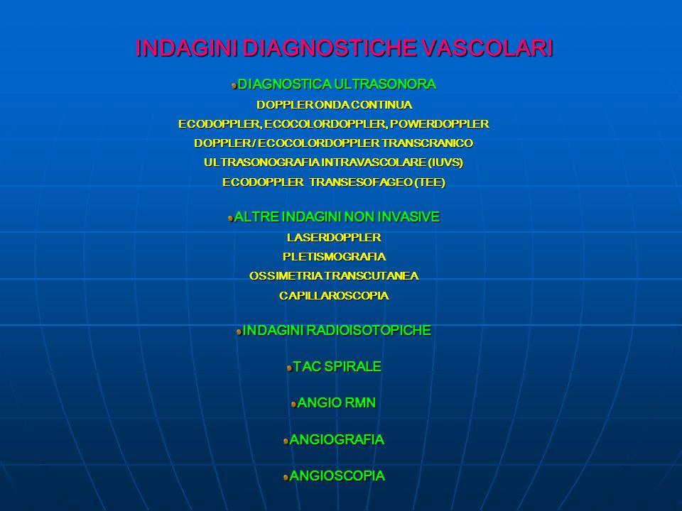 INDAGINI DIAGNOSTICHE VASCOLARI