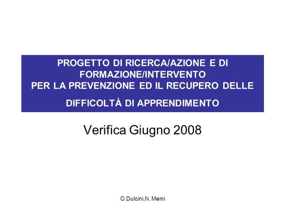 PROGETTO DI RICERCA/AZIONE E DI FORMAZIONE/INTERVENTO PER LA PREVENZIONE ED IL RECUPERO DELLE DIFFICOLTÀ DI APPRENDIMENTO