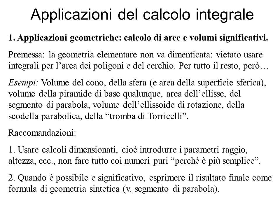Applicazioni del calcolo integrale