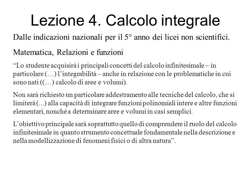 Lezione 4. Calcolo integrale