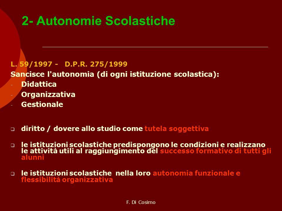 2- Autonomie Scolastiche