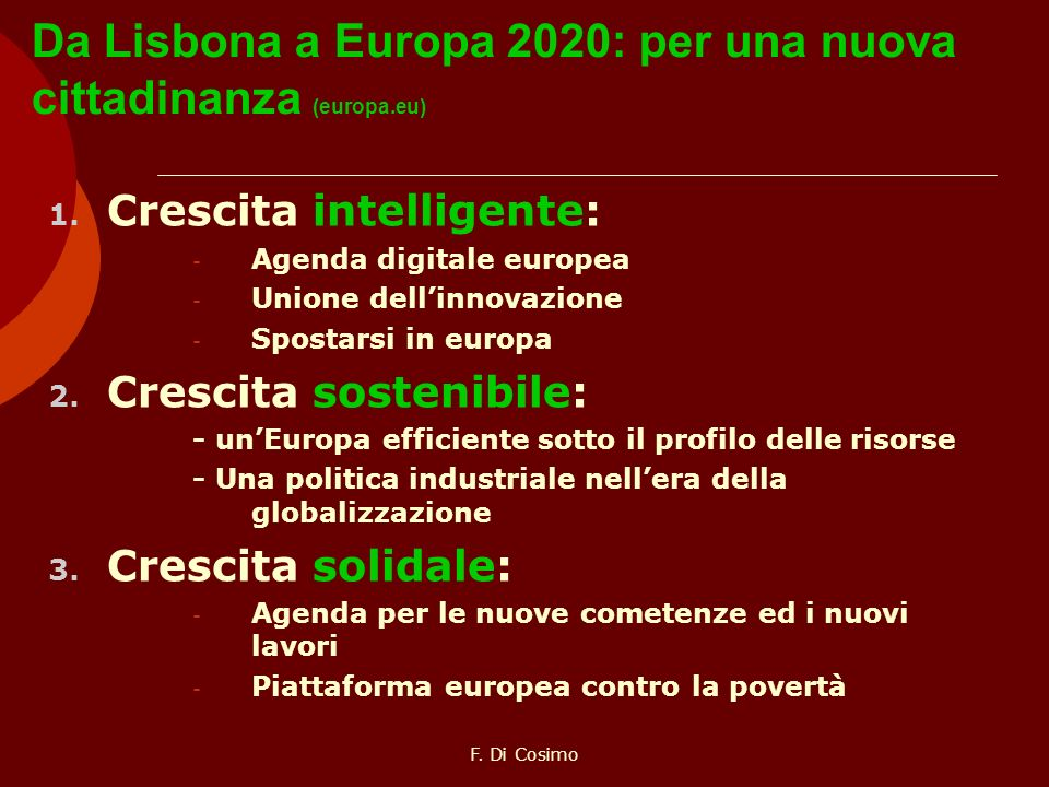 Da Lisbona a Europa 2020: per una nuova cittadinanza (europa.eu)