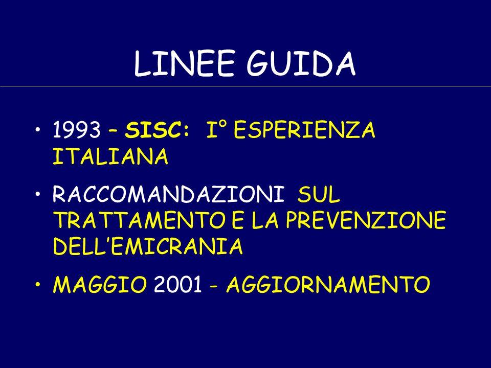 LINEE GUIDA 1993 – SISC: I° ESPERIENZA ITALIANA