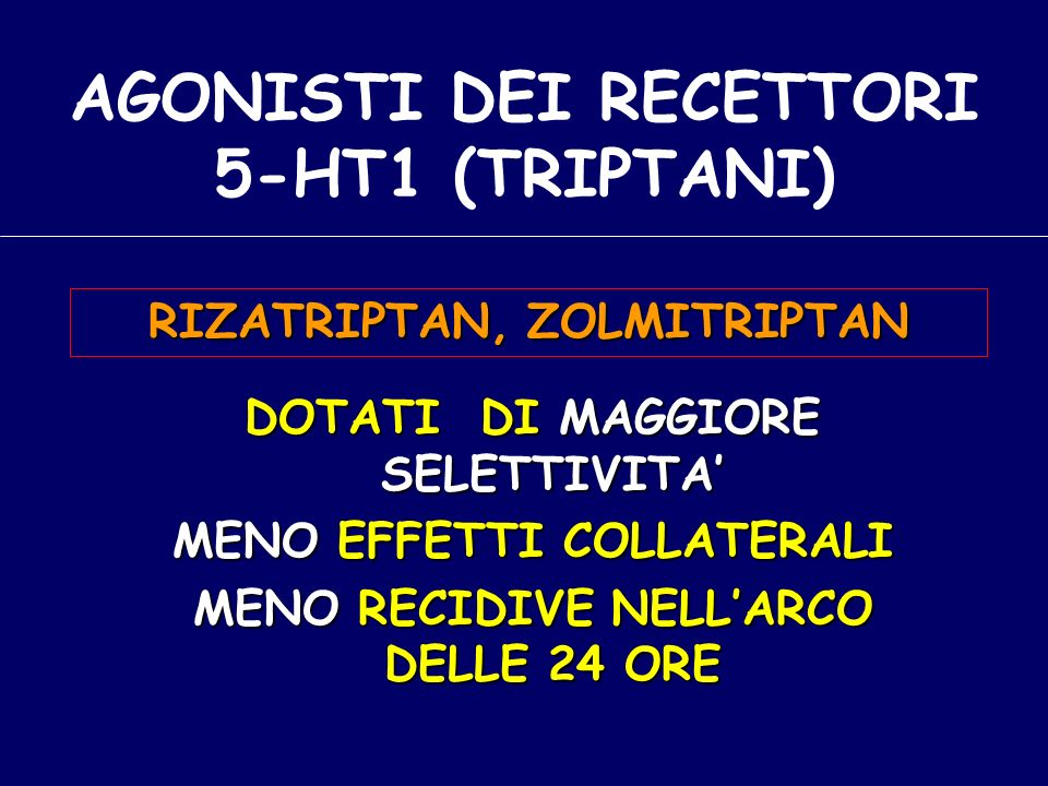 AGONISTI DEI RECETTORI 5-HT1 (TRIPTANI)
