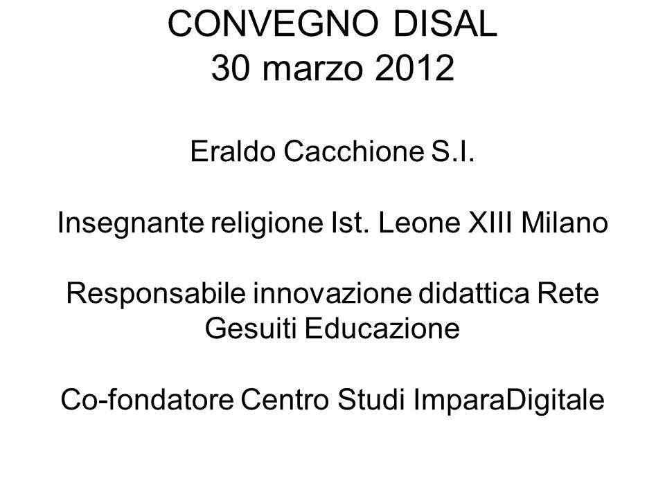 CONVEGNO DISAL 30 marzo 2012 Eraldo Cacchione S. I
