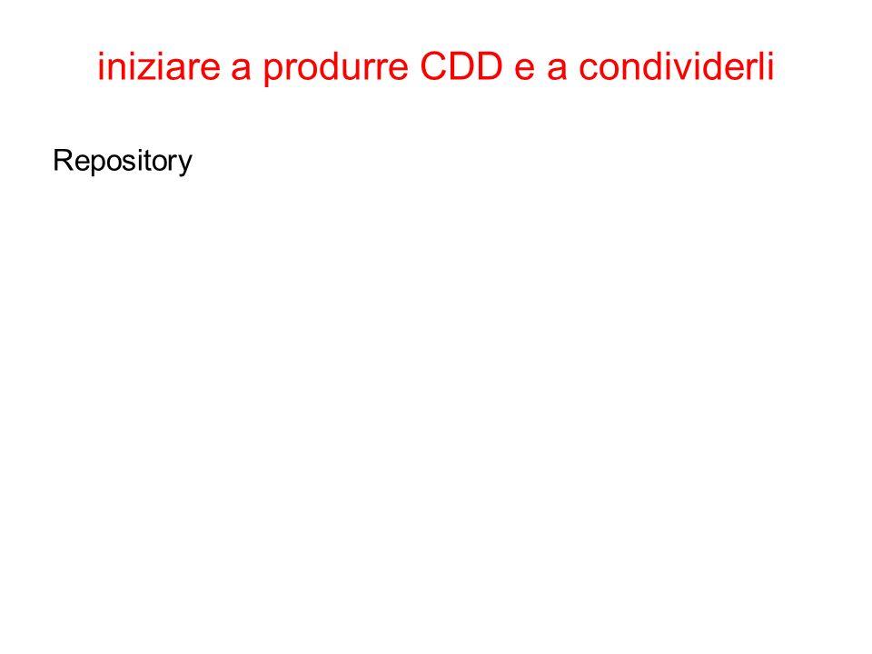 iniziare a produrre CDD e a condividerli