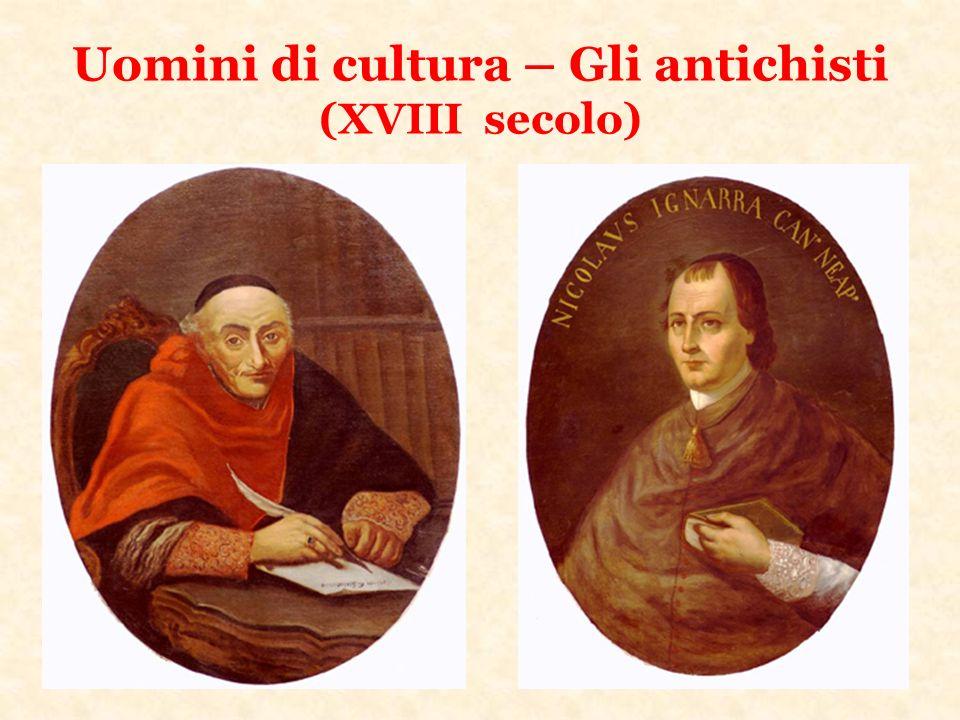 Uomini di cultura – Gli antichisti (XVIII secolo)
