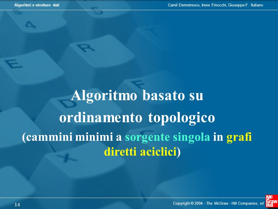 Algoritmo basato su ordinamento topologico