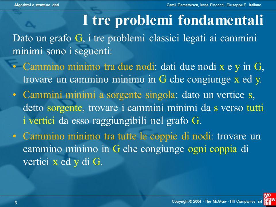 I tre problemi fondamentali