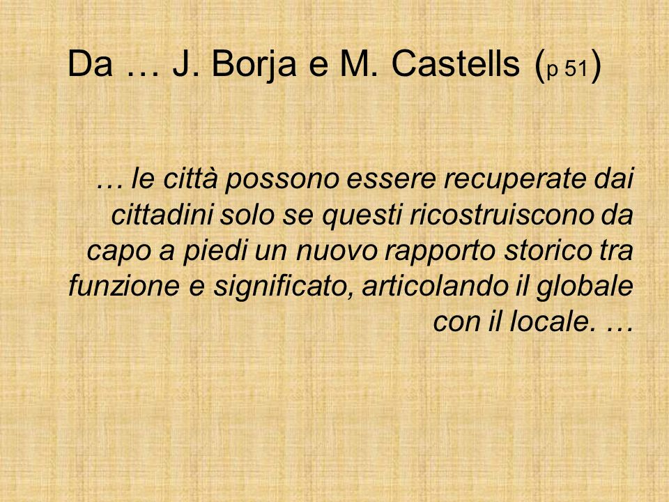 Da … J. Borja e M. Castells (p 51)