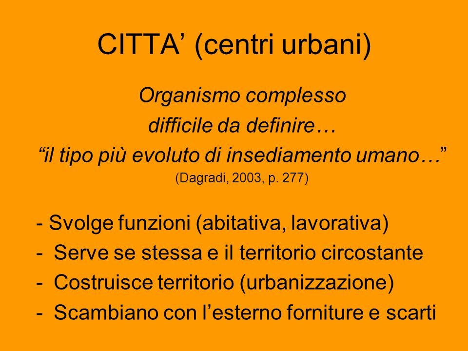 CITTA' (centri urbani)