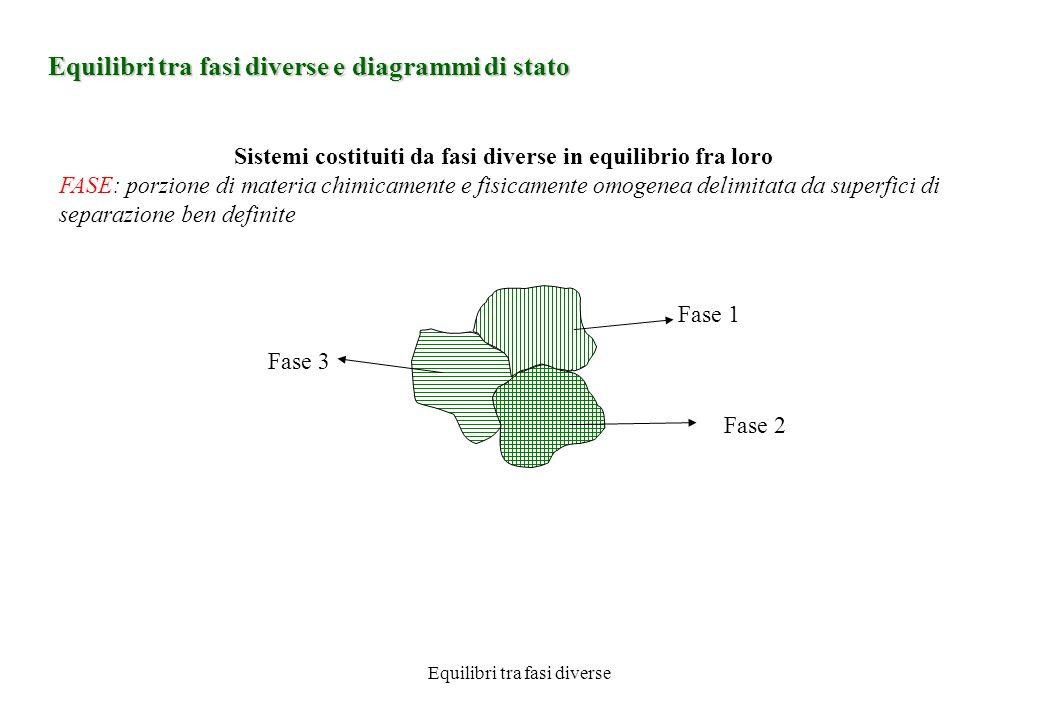 Equilibri tra fasi diverse e diagrammi di stato