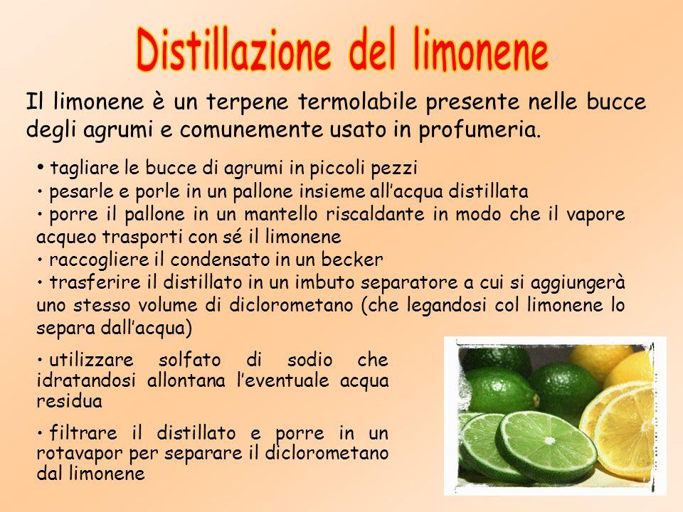 Distillazione del limonene