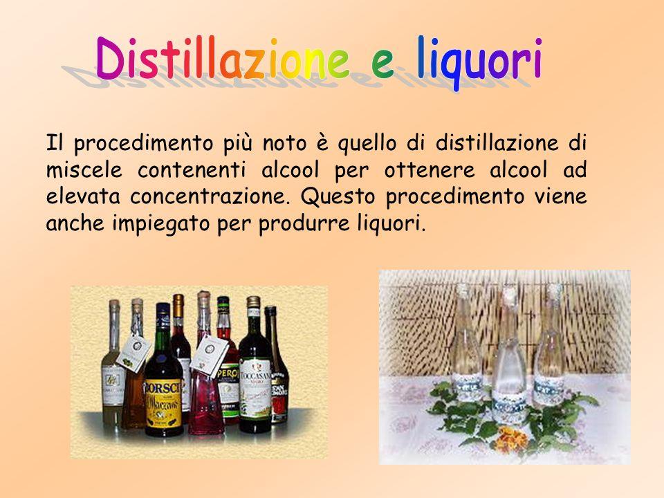 Distillazione e liquori