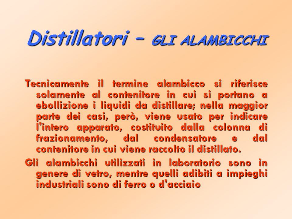 Distillatori – GLI ALAMBICCHI