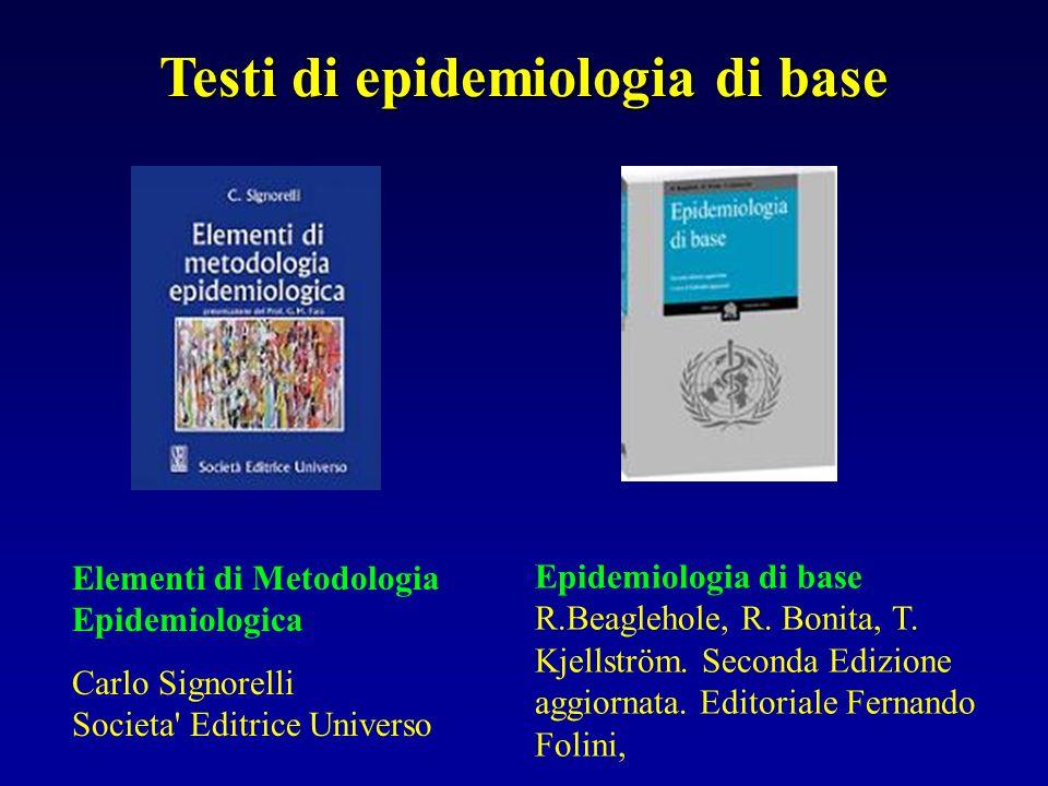 Testi di epidemiologia di base