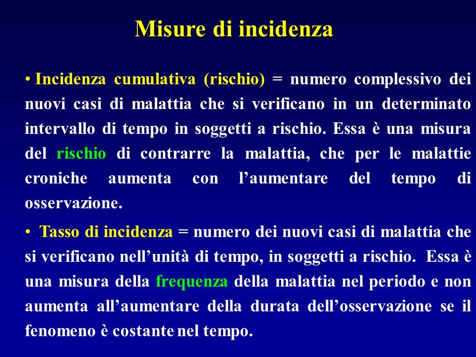 Misure di incidenza