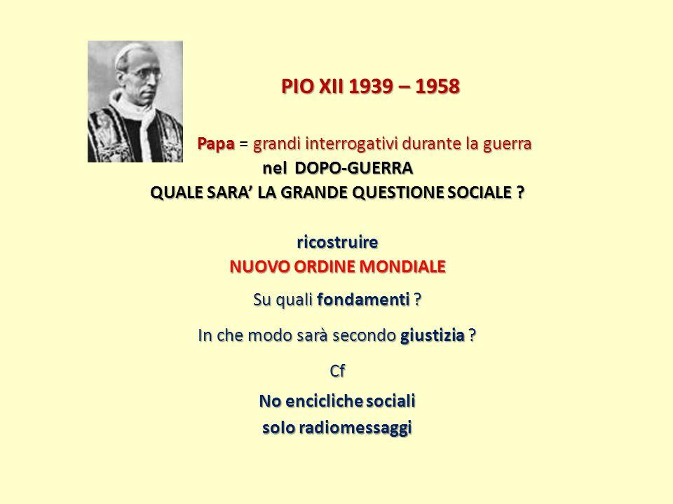 PIO XII 1939 – 1958