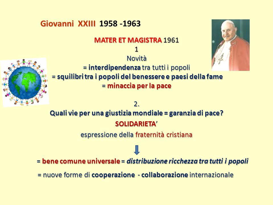 Giovanni XXIII 1958 -1963
